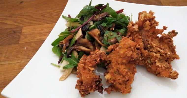 Smažený  pstruh s asijským salátem