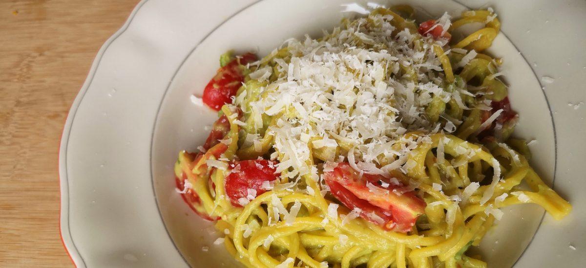Avokádové špagety